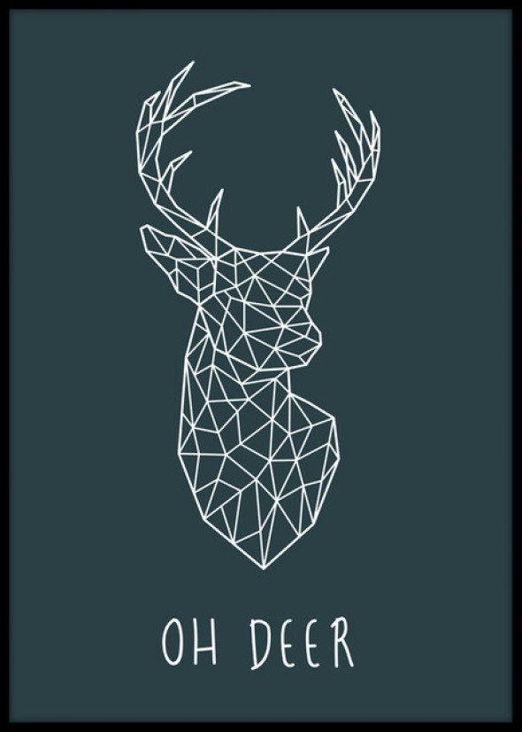 Plakat Oh Deer 30x40cm