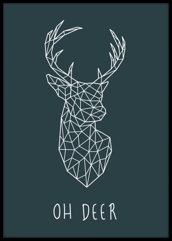 Plakat Oh Deer 60x90cm