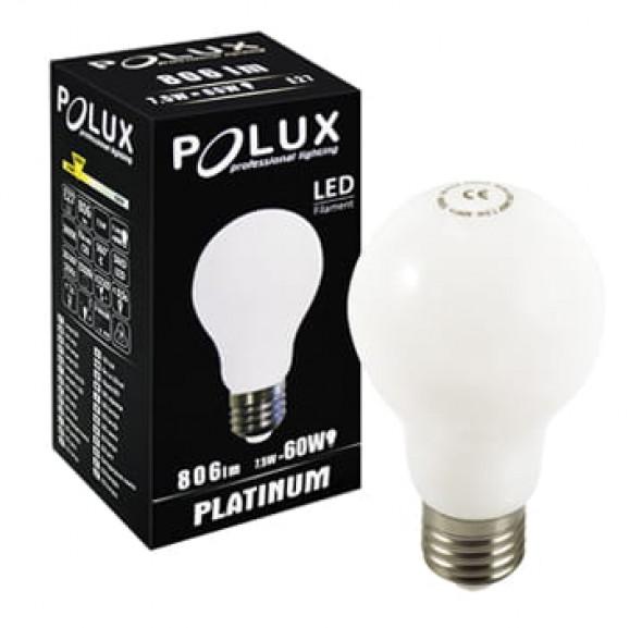 Żarówka mleczna LED 360° FA60 E27 806lm, 7,5W, 3000K Filament
