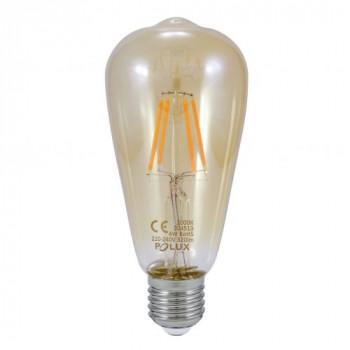 Żarówka dekoracyjna LED 360° ST64 VINTAGE AMBER E27 320lm, 4W, 2000K Filament