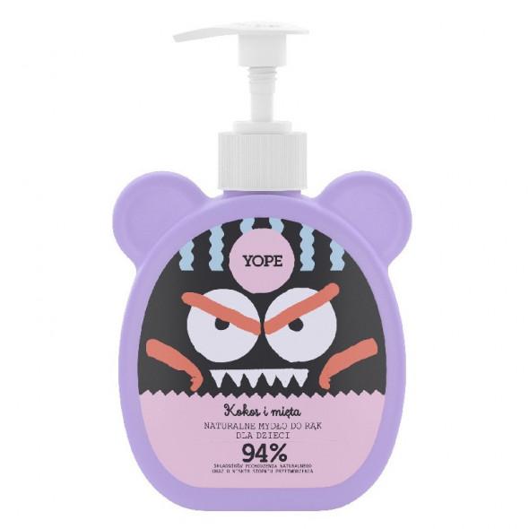 YOPE Naturalne Mydło dla dzieci w płynie Kokos i mięta 400 ml