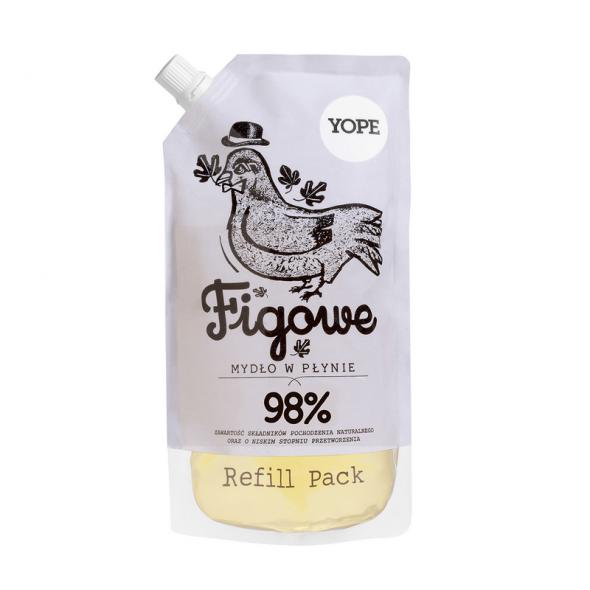 YOPE REFILL Naturalne Mydło w płynie Figa 500 ml