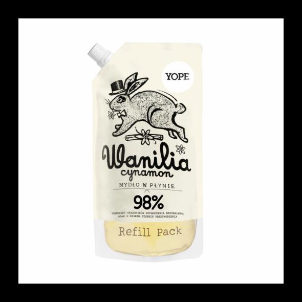 YOPE REFILL Naturalne Mydło w płynie Wanilia 500 ml