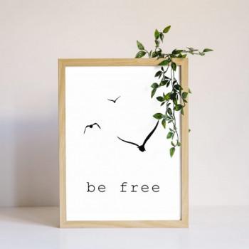 Plakat BE FREE