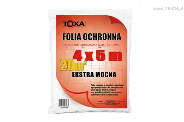 Folia malarska extra mocna TOXA 4x5m