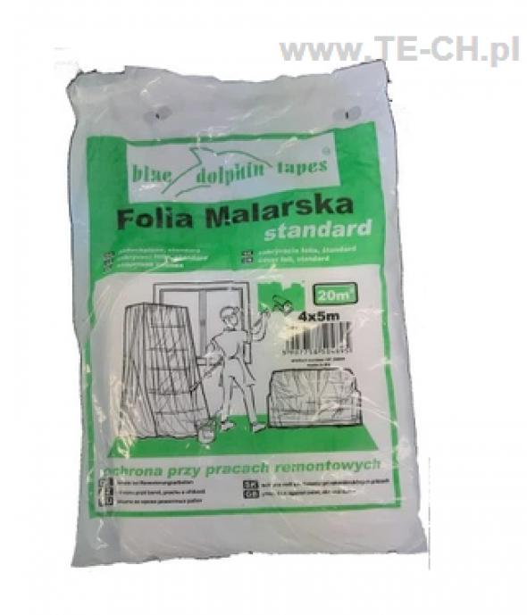 Folia malarska standard BLUE DOLPHIN 4x5m