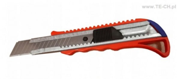 Nożyk nóż do tapet tapicerski z łamanym ostrzem