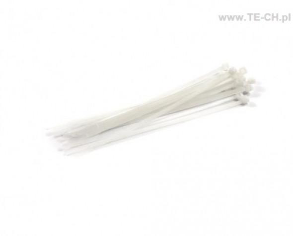 Opaski kablowe 3,6x200 białe 100szt