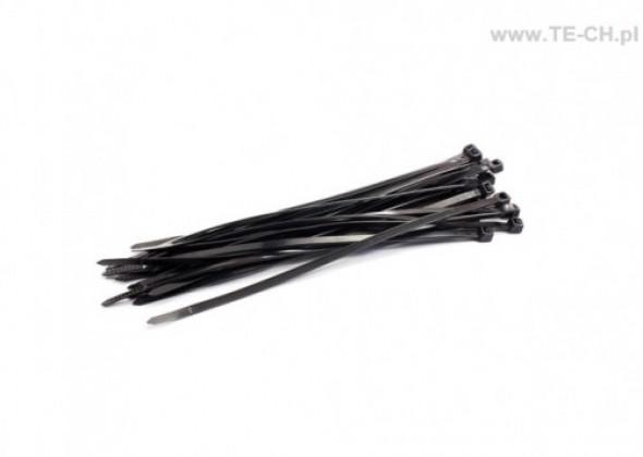 Opaski kablowe 4,8x280 czarne 100szt