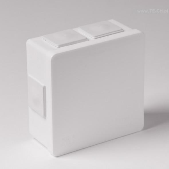 Puszka hermet n/t 86x86x40mm IP55 biała 002-01