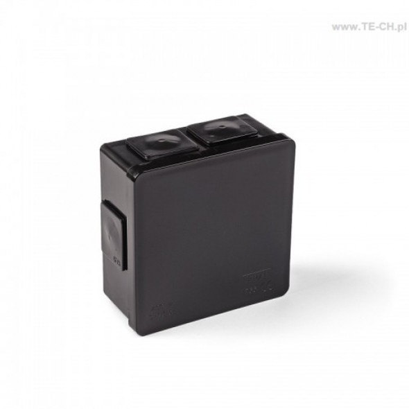 Puszka hermet n/t 86x86x40mm IP55 czarna 002-05