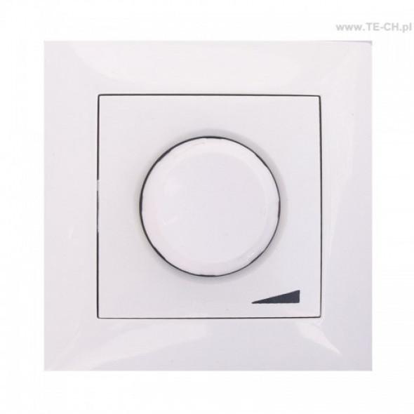 Regulator ściemniacz obrotowy 800 p/t biały 459-01