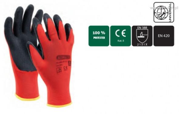 Rękawice polistrowe S-Latex R-Eco rozmiar9 para