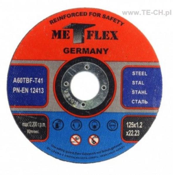 Tarcza do cięcia metalu stali METFLEX 125x1,2mm