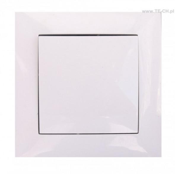 Włącznik światła pojedynczy biały WESA LC-01