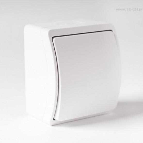 Włącznik światła pojedynczy n/t IP44 biały 151-01