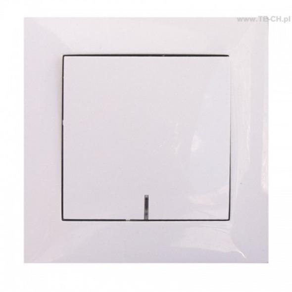Włącznik światła pojedynczy podświetlany biały
