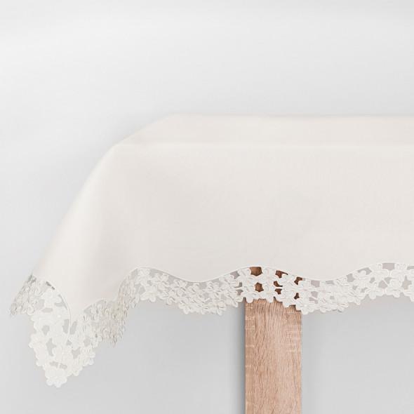 Bieżnik haftowany DAISY - 60x120 cm - ivory