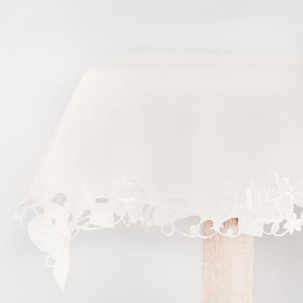 Bieżnik haftowany FLORANCE - 60x120 cm - ivory
