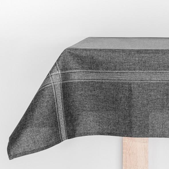 Bieżnik haftowany KATIE - 40x140 cm - antracyt