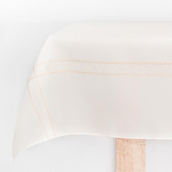 Bieżnik haftowany KATIE - 40x140 cm - ivory/złoty