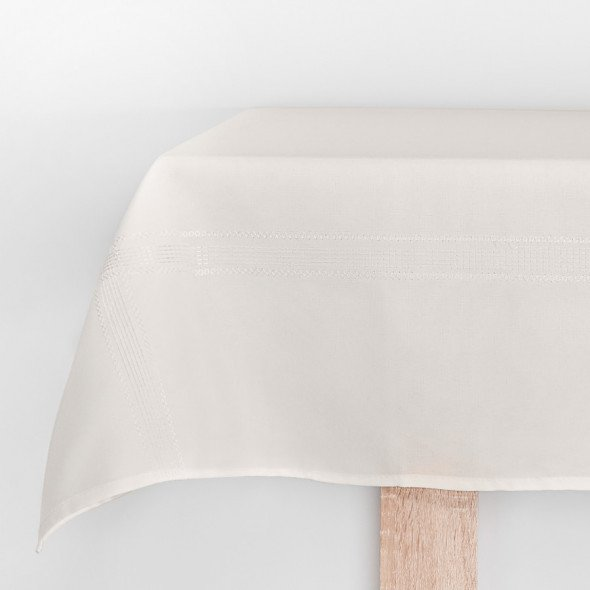 Bieżnik haftowany KATIE - 50x100 cm - ivory