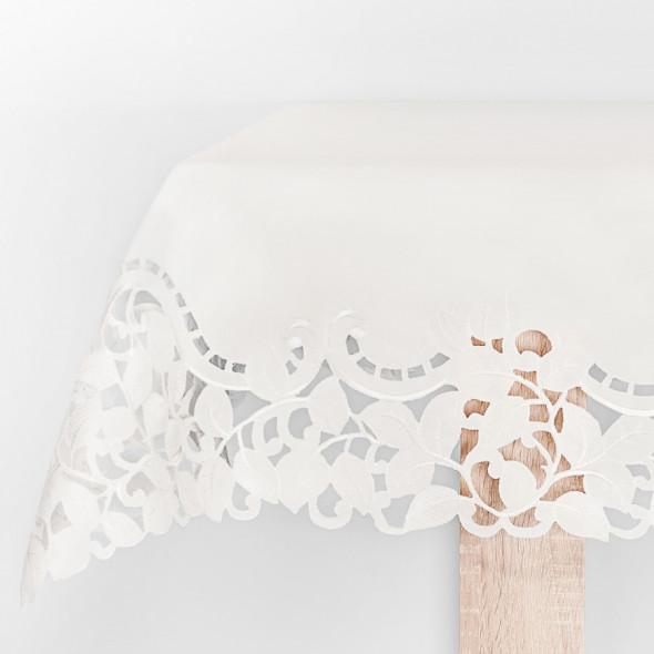 Bieżnik haftowany LIV000 - 60x120 cm - ivory