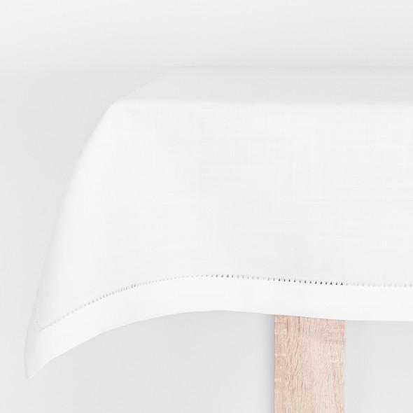 Bieżnik lnianopodobny NICE - 50x100 cm - biały