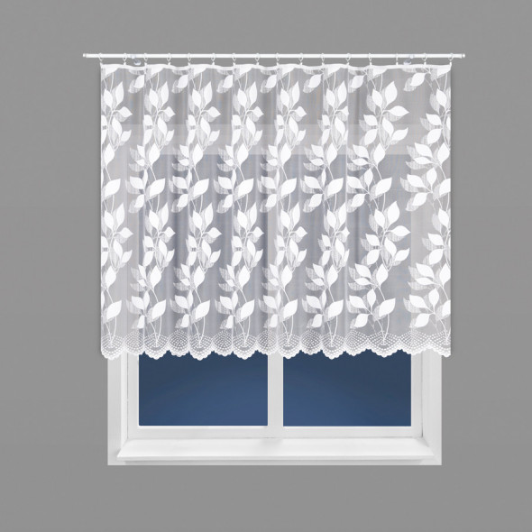 Firanka żakardowa 023083 - wysokość 110 cm - biały