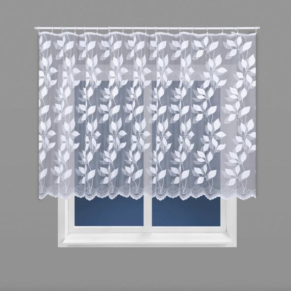 Firanka żakardowa 023083 - wysokość 150 cm - biały