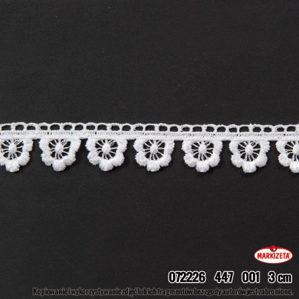 Gipiura 072226 - wysokość 3 cm - biała