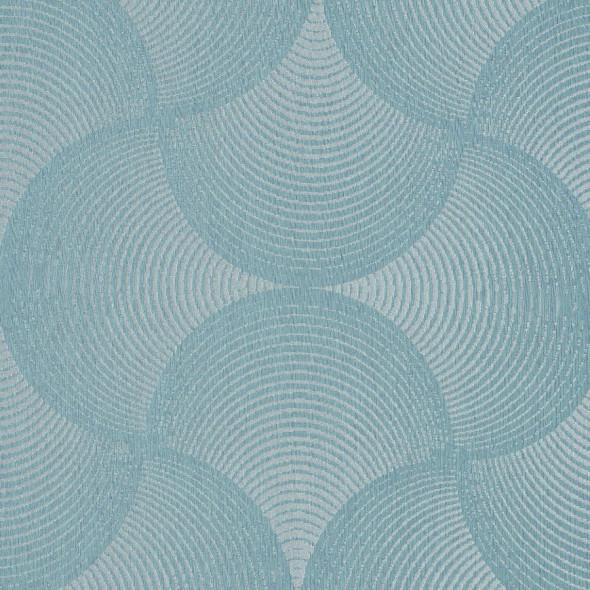 """Materiał na zasłony """"063241-004"""" - szerokość 150 cm - szaro-błękitny"""