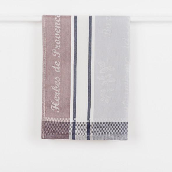 Ścierka kuchenna PROVENCE - 50x70 cm - szara