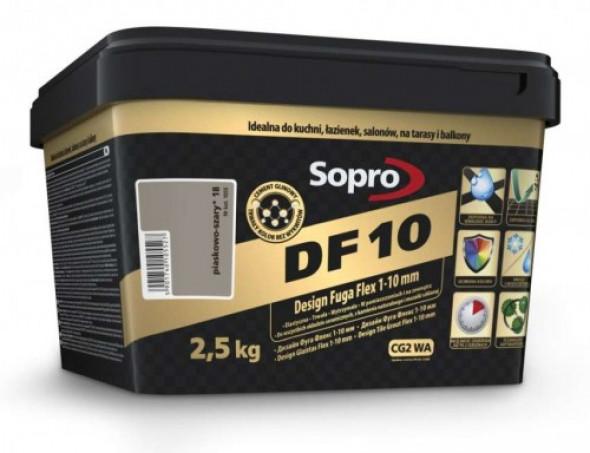 Sopro DF10 fuga piaskowo-szara 18 , 2,5kg