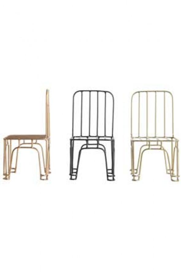 Dekoracja 3 Krzesła W Miniaturze