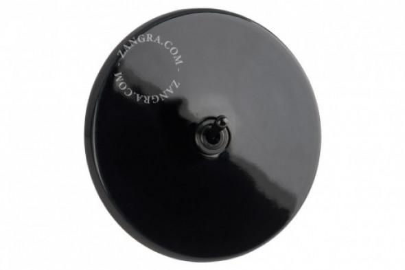Retro Włącznik Czarna Porcelana Zangra