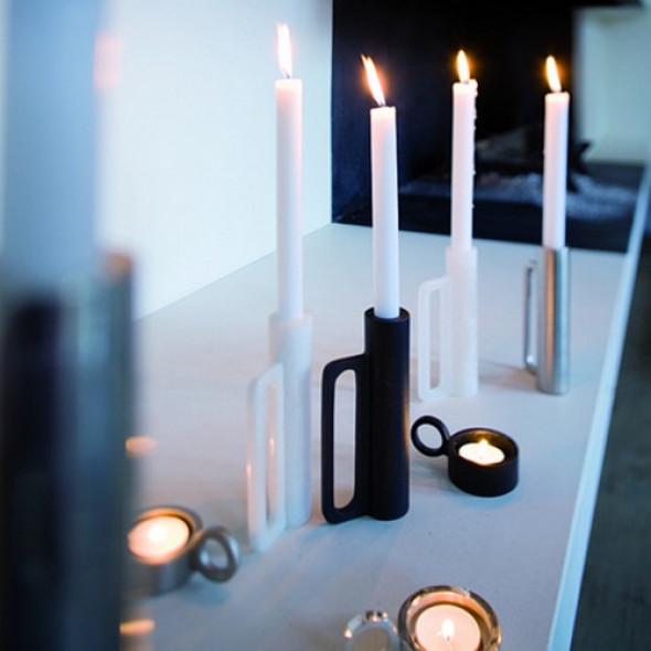 Świecznik Czarny Eno Studio