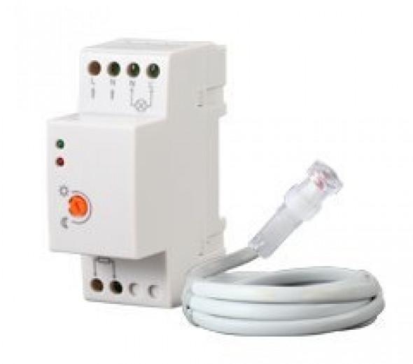 Czujnik zmierzchu 20A 230V na szynę DIN z sondą na kablu