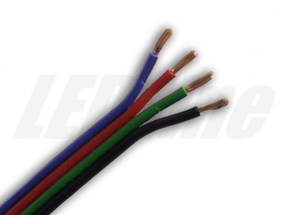 Kabel - przewód do taśm RGB LED 4x0,35mm
