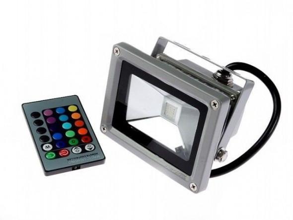 Naświetlacz LED RGB 10W  z pilotem