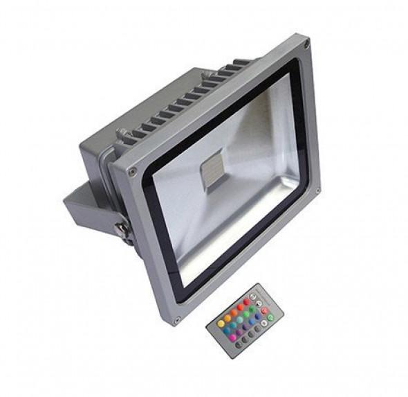 Naświetlacz LED RGB 20W z pilotem