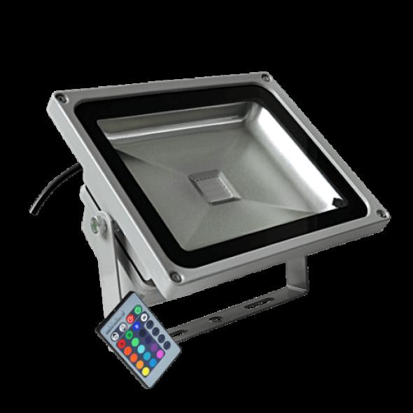 Naświetlacz LED RGB 30W z pilotem
