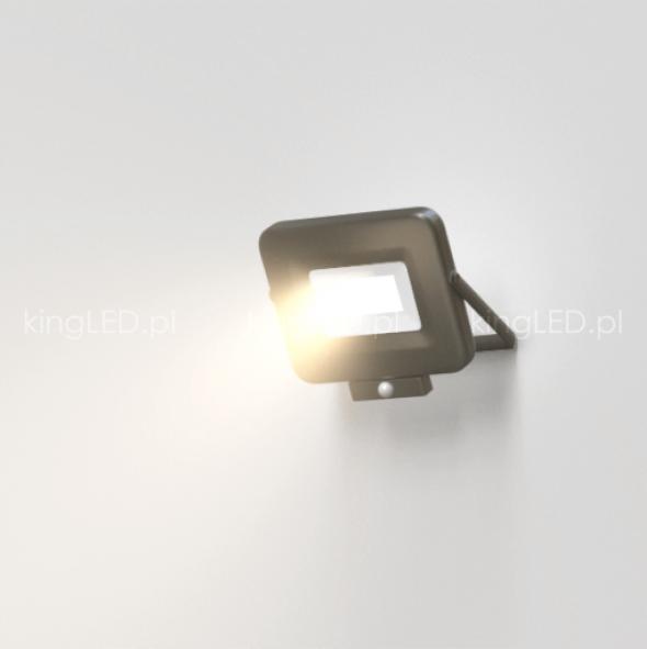 Naświetlacz OPTONICA® 20W LED SLIM czarny z czujnikiem ruchu PIR 4000K IP65