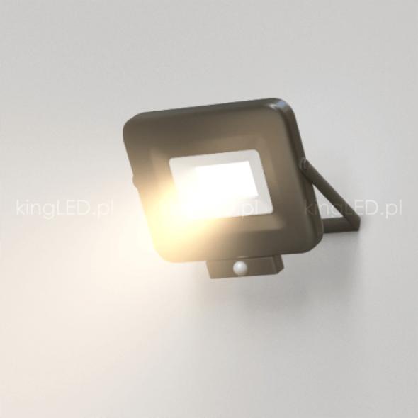 Naświetlacz OPTONICA® 30W LED SLIM czarny z czujnikiem ruchu PIR 4000K IP65