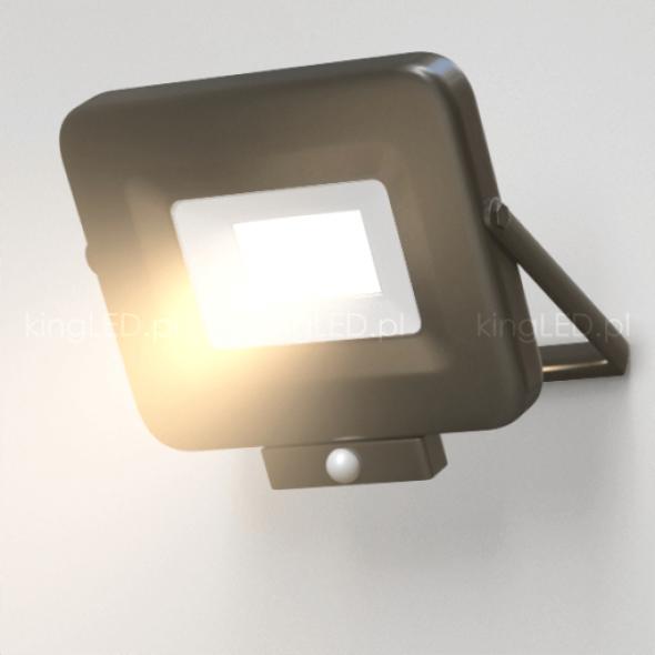 Naświetlacz OPTONICA® 50W LED SLIM czarny z czujnikiem ruchu PIR 4000K IP65