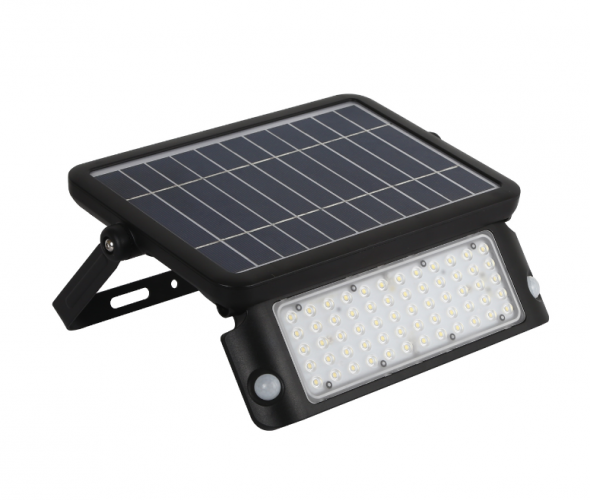 Naświetlacz  SOLARNY 10W LED z czujnikiem ruchu i zmierzchu PIR 4000K Dzienny