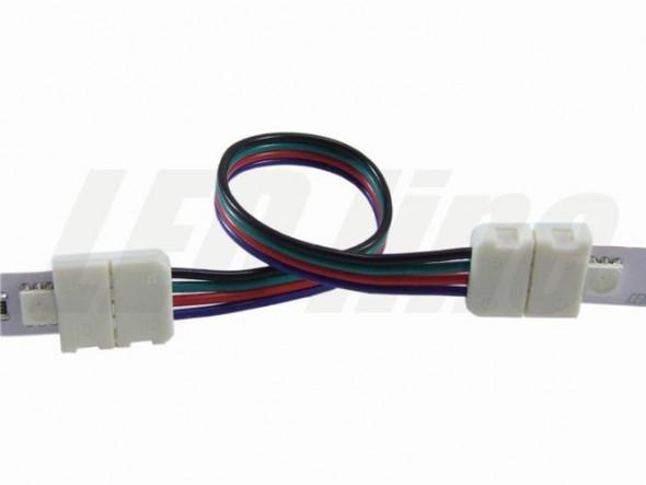 Podwójna CLICK szybkozłaczka do taśm RGB LED 10mm kabel