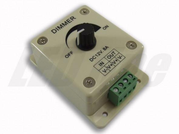 Ściemniacz montażowy manualny  do taśm LED 12-24V 8A