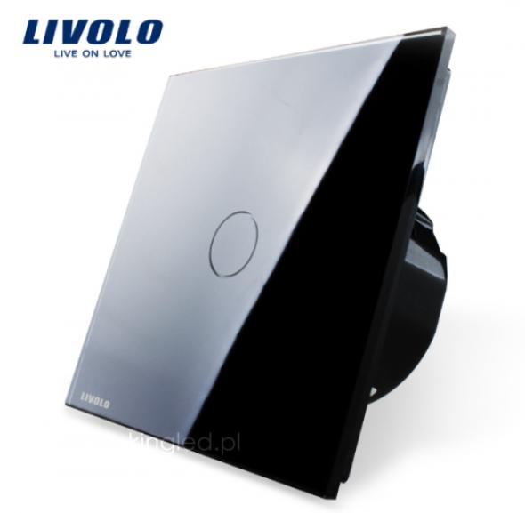 Włącznik dotykowy pojedynczy LIVOLO z czarnym panelem szklanym