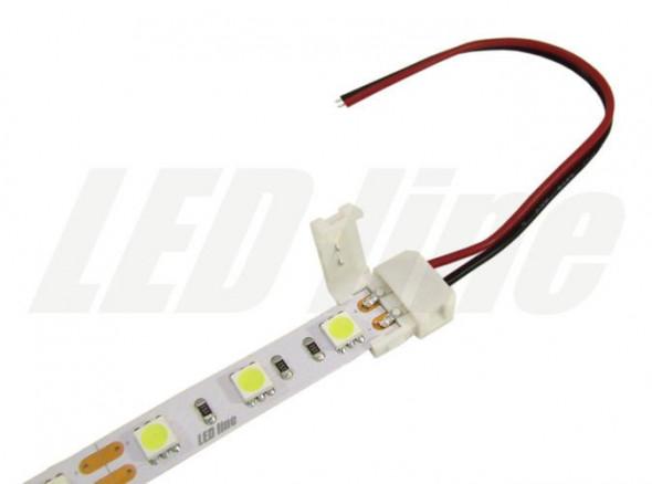 Złączka CLICK pojedyncza do taśm LED 10mm + przewód 14cm